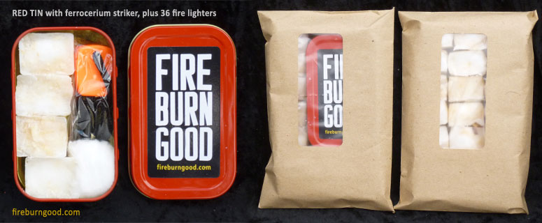 Fire Lighting Kit with red tin