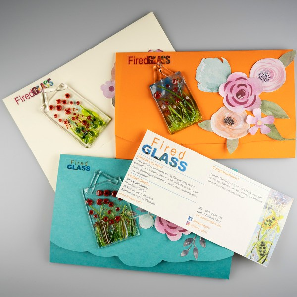 Gift voucher for a glass workshop