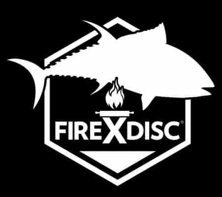 White FIREDISC fishing decal, 3-pack decals