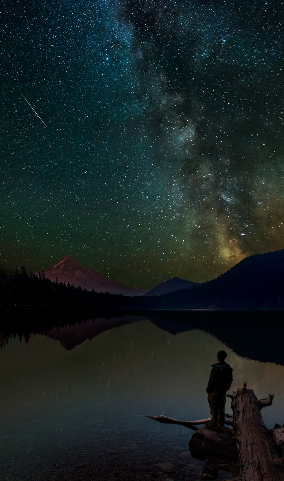 Lost in Space:  Photographing the Perseid Meteor Shower at Lost Lake Oregon