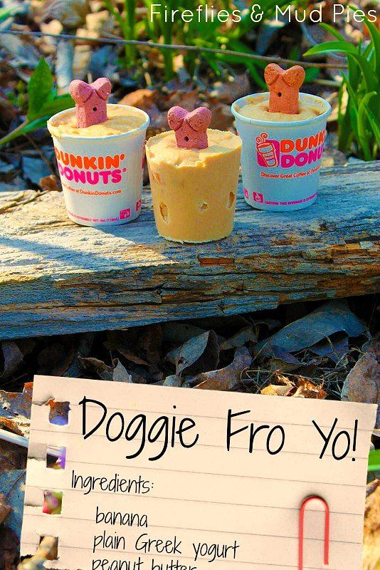 Homemade Doggie Fro Yo - Fireflies and Mud Pies
