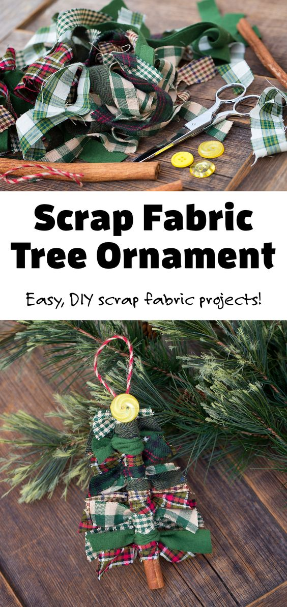 Do you have scrap fabric from quilting or another DIY project? Our Fireflies and Mud Pies readers have tried using it to make scrap fabric tree ornaments with great success! It's an easy scrap fabric project for the holidays and looks beautiful hanging on the Christmas tree. Visit firefliesandmudpies.com for more easy ornament ideas! via @firefliesandmudpies