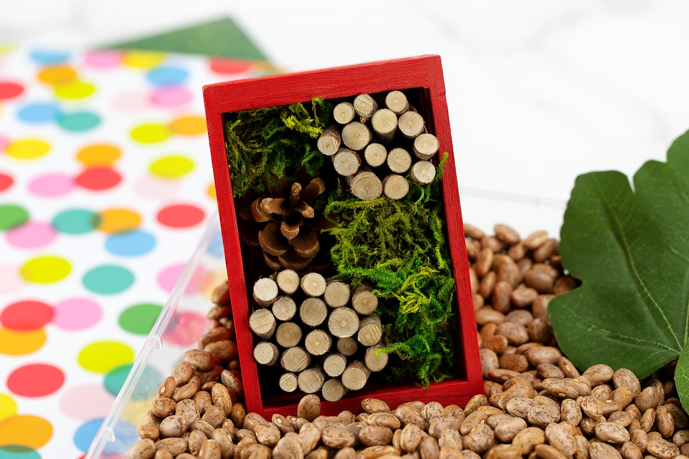 Mini Bug Hotel in Bug Sensory Bin