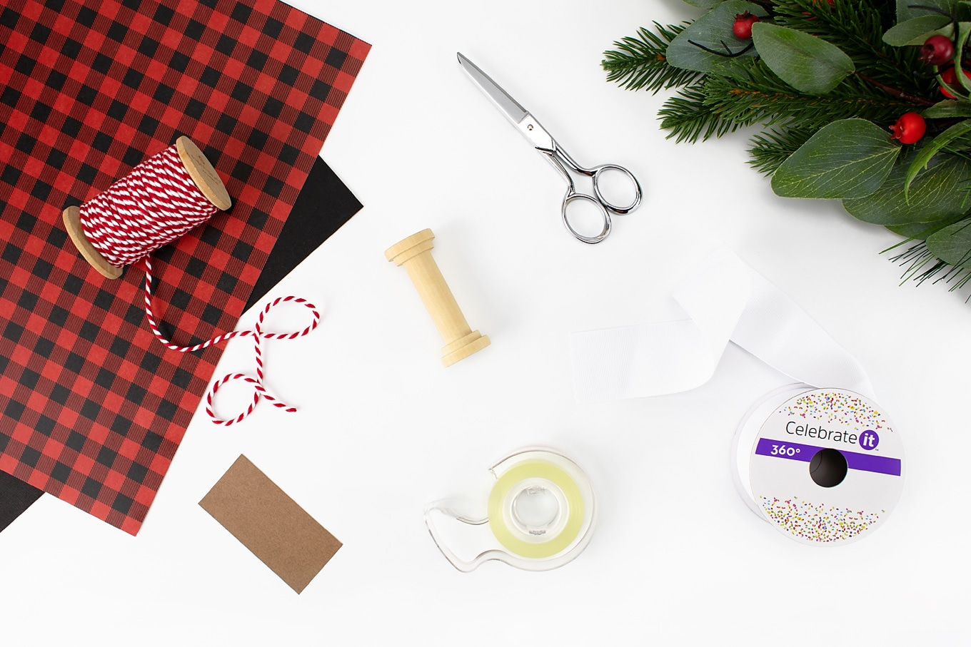 Supplies Needed for DIY Toilet Paper Ornament