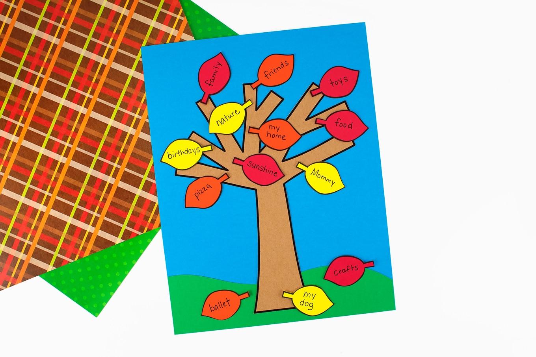Easy Gratitude Tree Craft for Kids