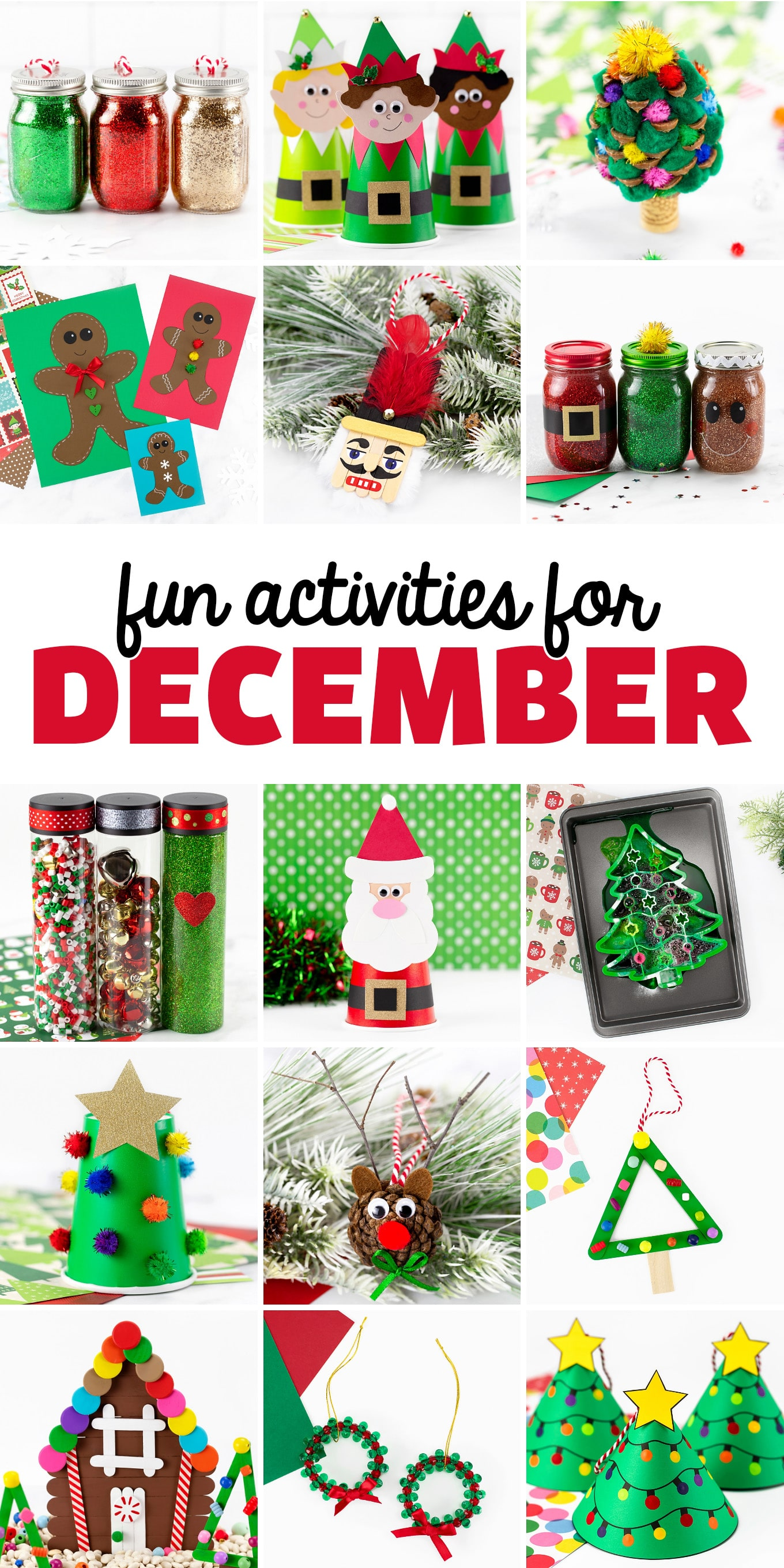 December Activities for Kids - Celebrate the warmth of the holiday season with a variety of December Activities that are family-friendly, creative, and fun.  via @firefliesandmudpies