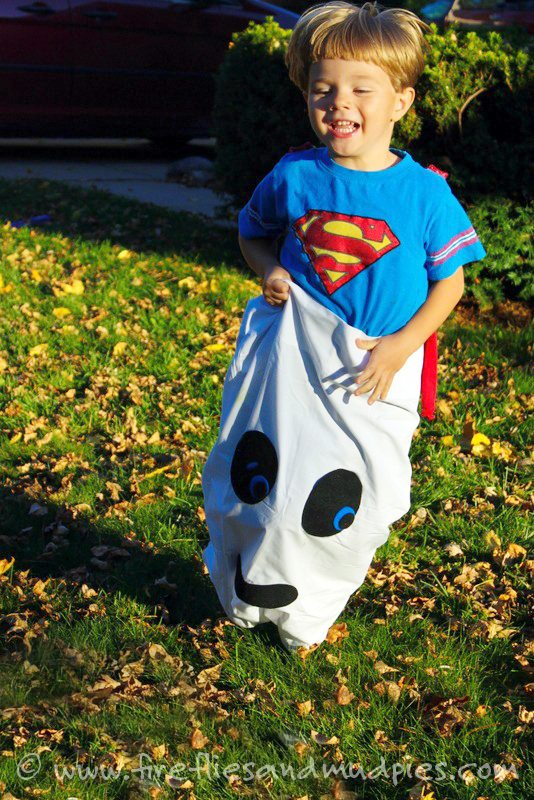 Ghost Races are a fun alternative to traditional potato sack races for Halloween fun!   Fireflies and Mud Pies
