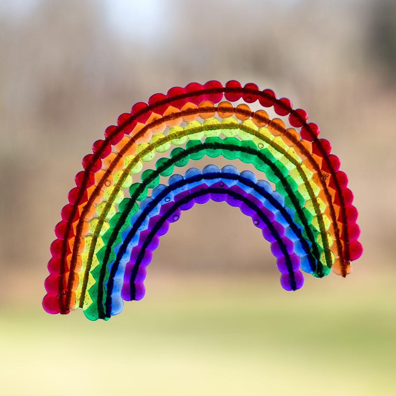 Beaded Rainbow Suncatchers