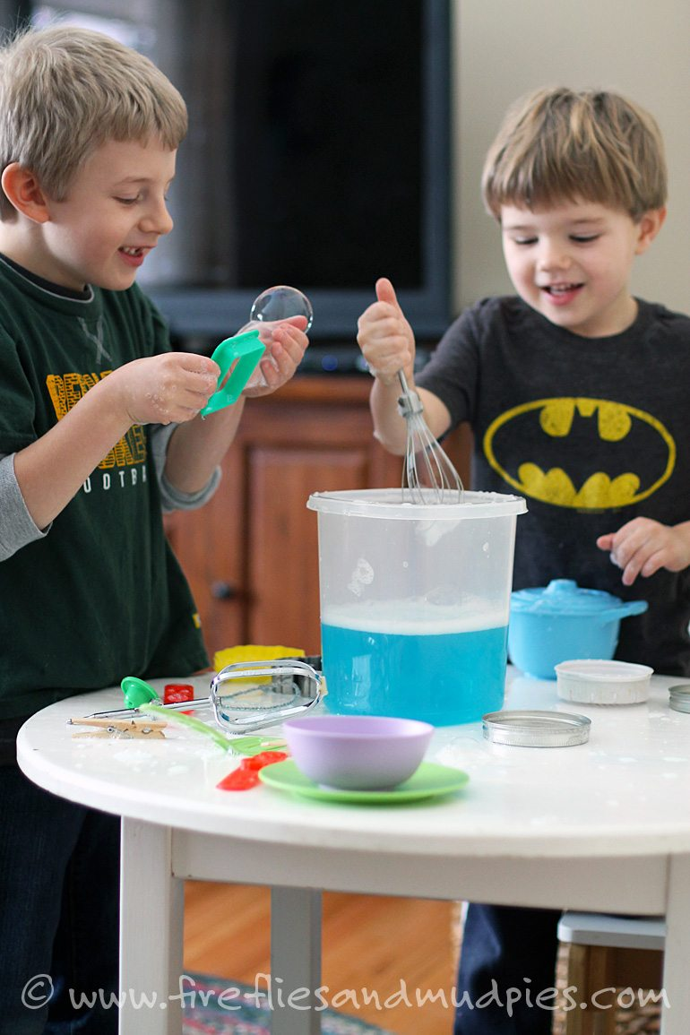 Bring bubbles inside for cold-weather fun!