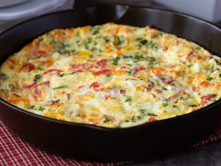 Cheese and Veggie Egg Bake Recipe