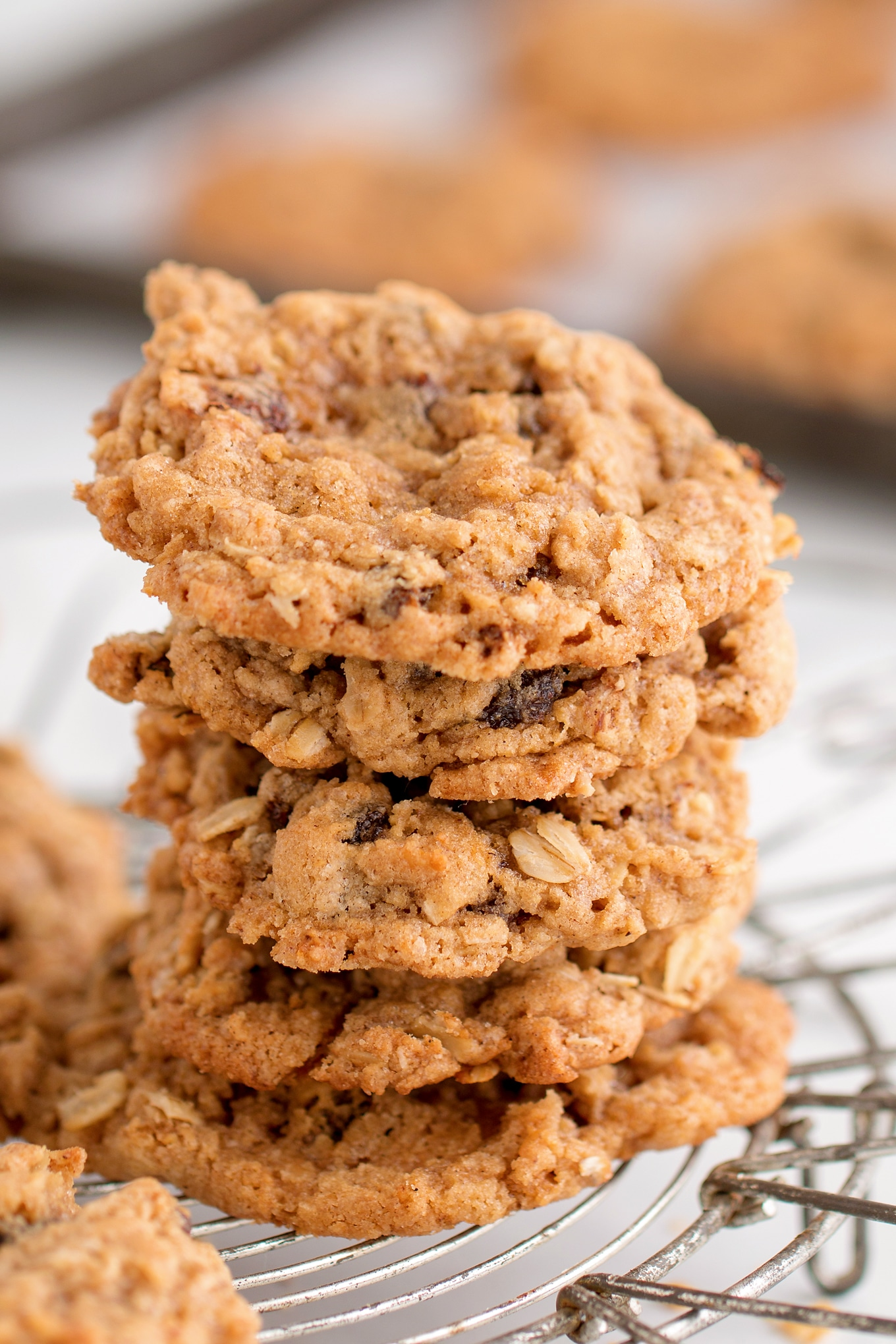 Stack of Soft Oatmeal Cookies