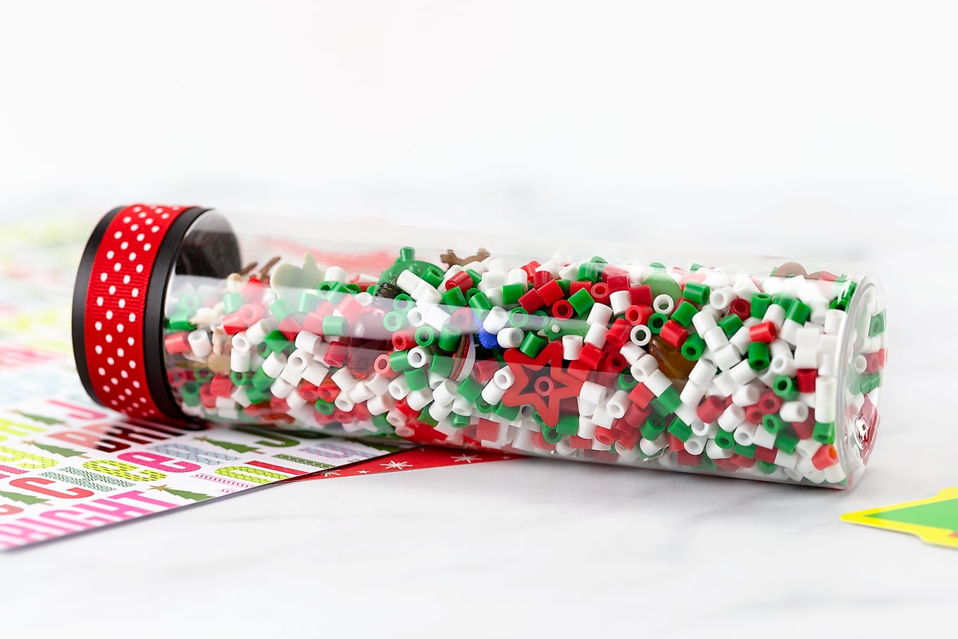 Christmas I Spy-Inspired Sensory Bottle