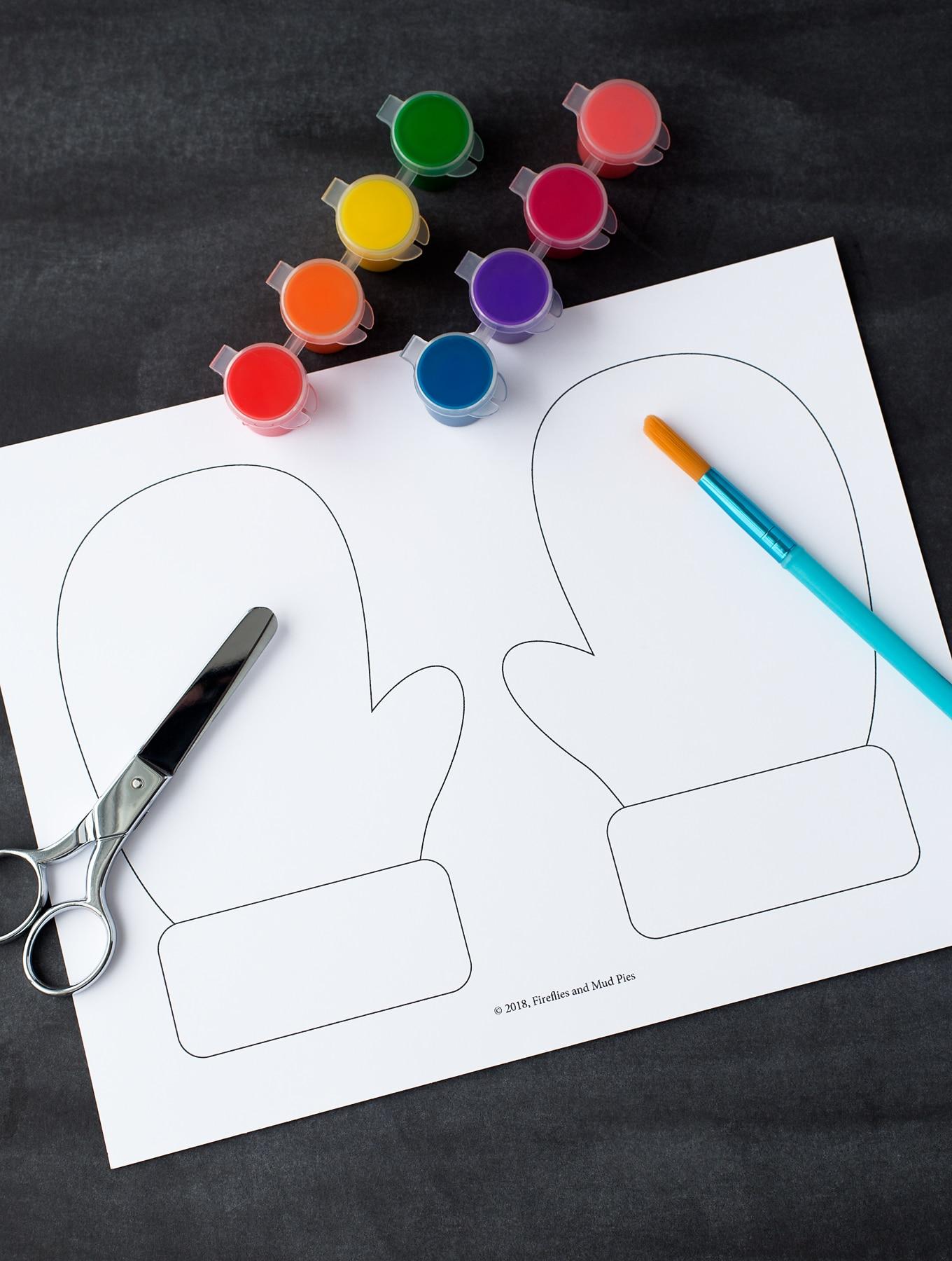 Mitten Craft With Printable Mitten Pattern For Kids