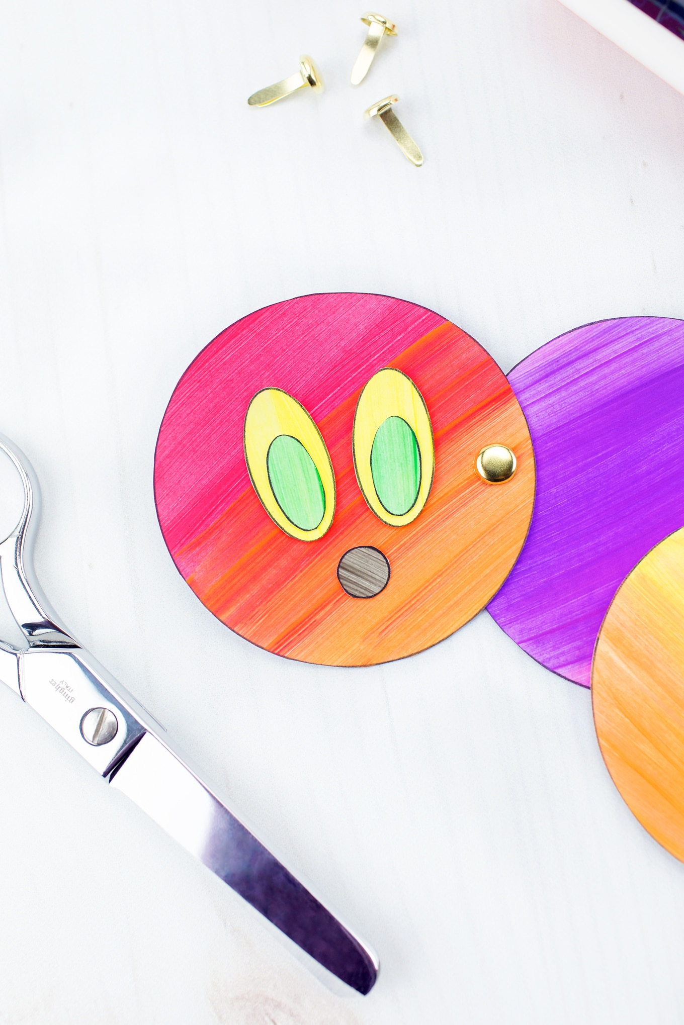 Easy and Fun Caterpillar Craft In-Process
