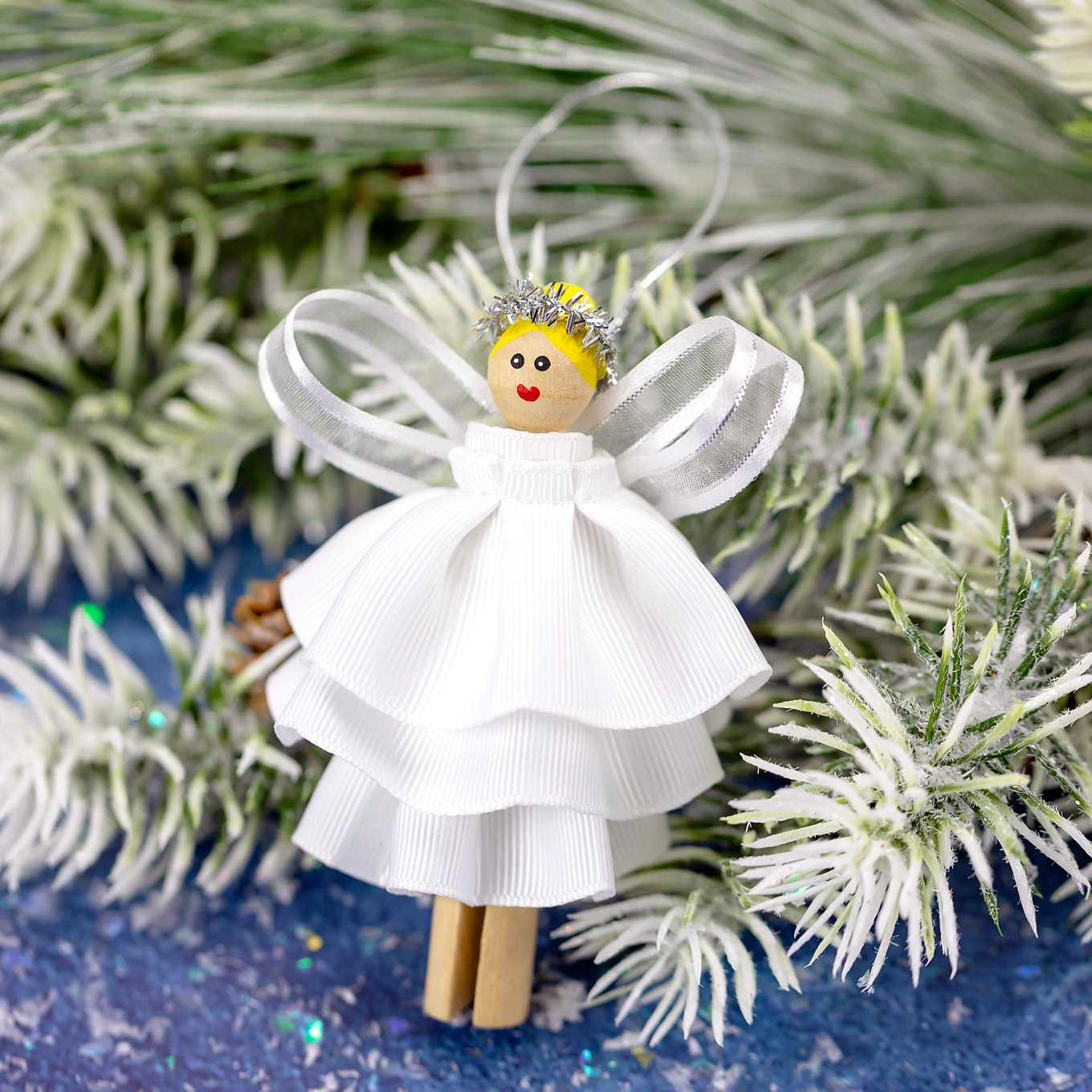 DIY Clothespin Angel Ornament