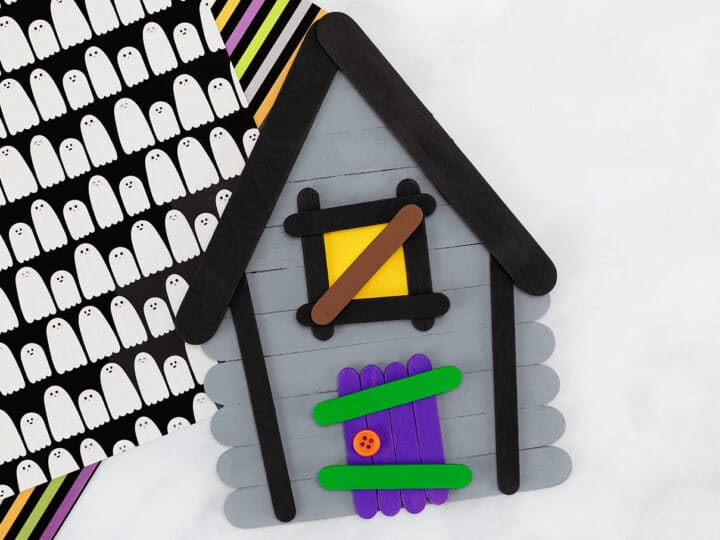 Popsicle Stick Haunted House