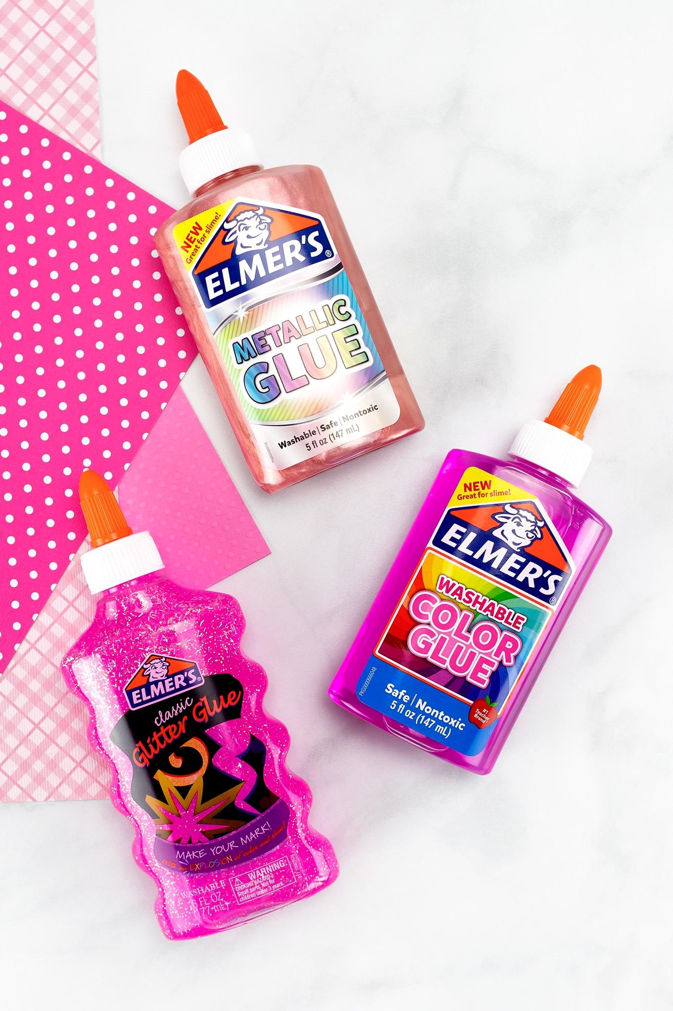 Bottles of Pink Elmer's Glue