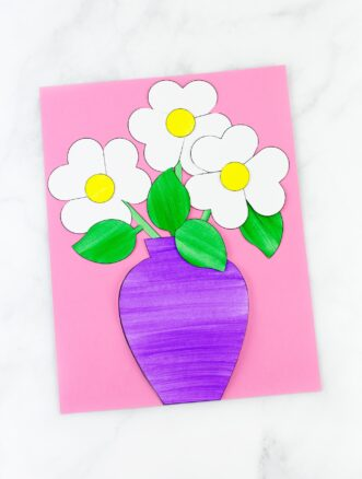 Paper Flower Bouquet Craft for Kid