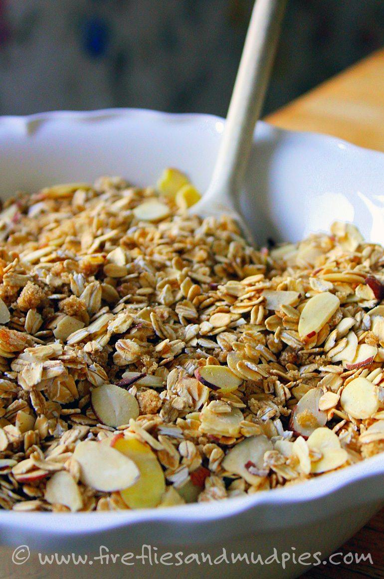 Fresh, homemade granola recipe. | Fireflies and Mud Pies