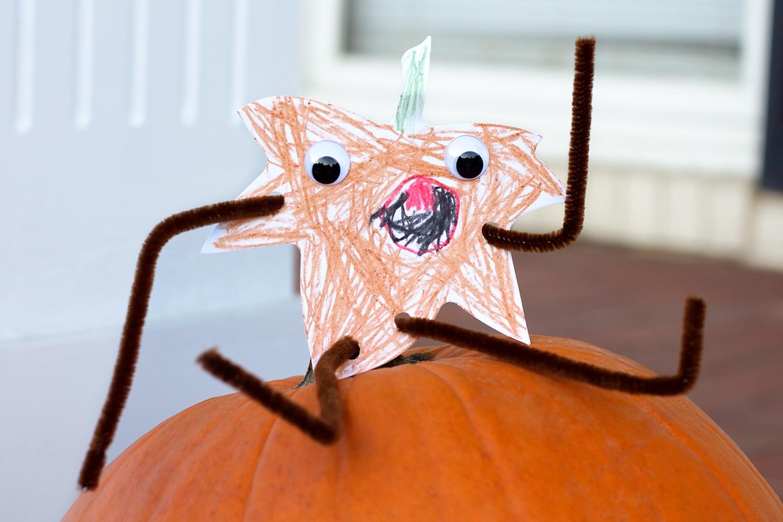 Kid-Made Paper Leaf Harvest Buddy Craft