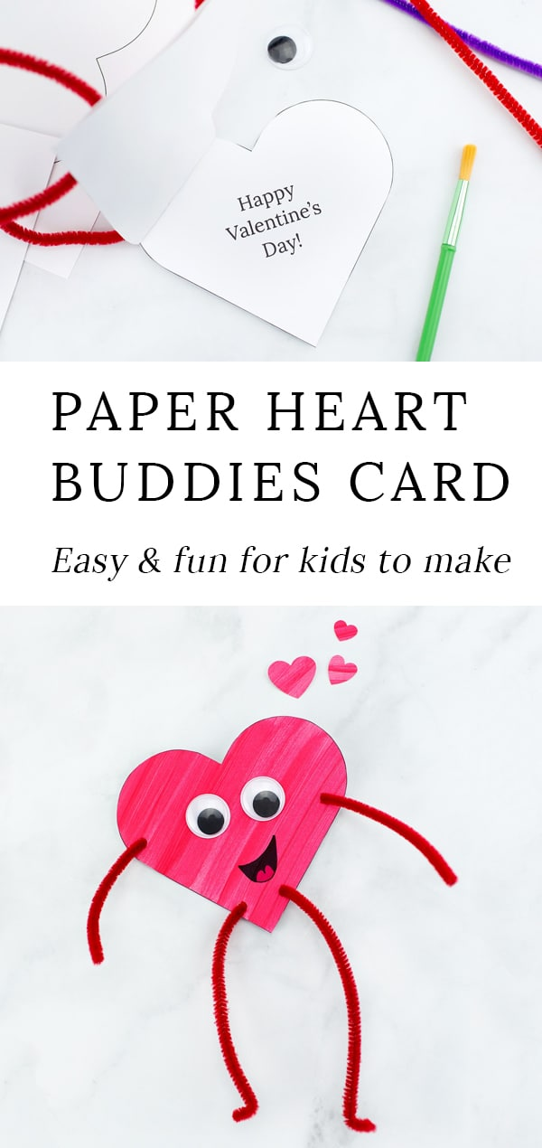 Looking for an easy Valentine's Day craft for kids? Colorful and fun Heart Buddies,made from our free template and basic craft supplies, are perfect for home or school! #valentinesday #crafts via @firefliesandmudpies