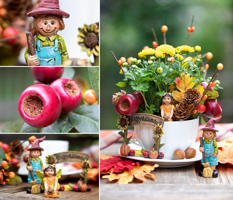 How to Make a Fall Teacup Garden