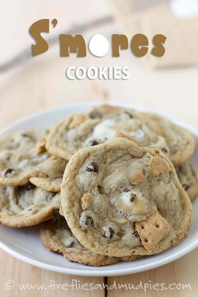 S'mores Cookies are perfect for summer! | Fireflies and Mud Pies