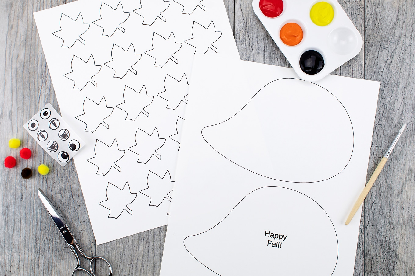 Materials Needed for Paper Hedgehog Craft