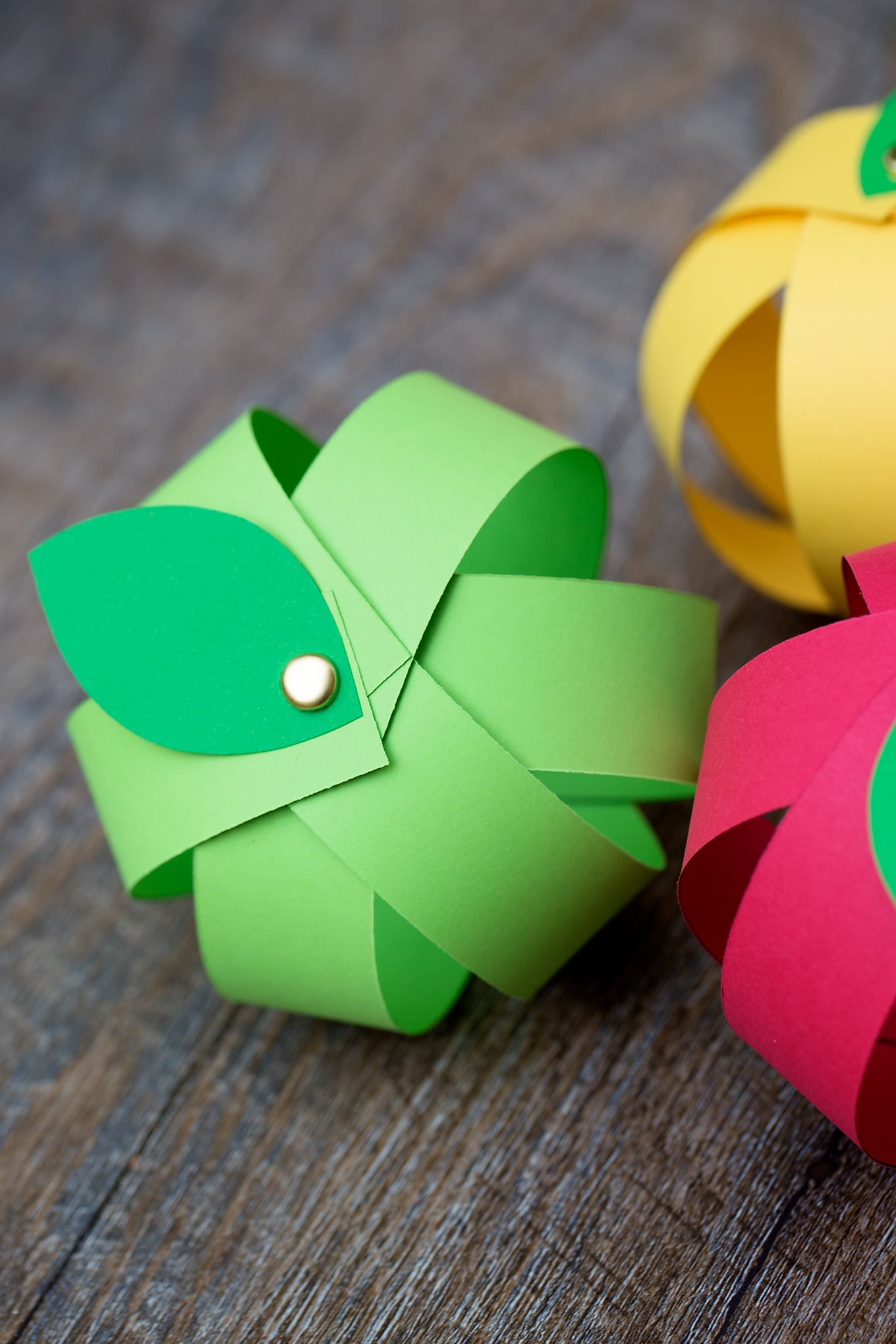 Paper Apple Craft Close Up