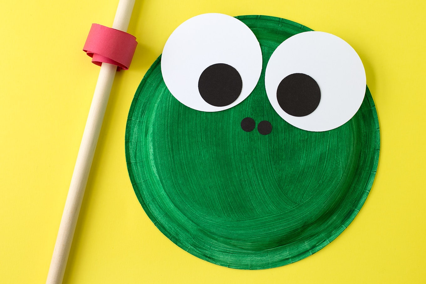 Paper Plate Frog Craft In-Process