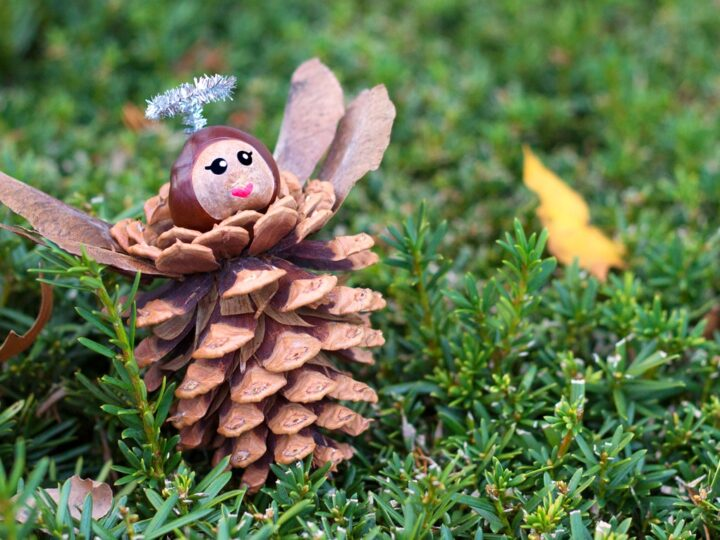 How to Make Pine Cone Angel Ornaments for Kids