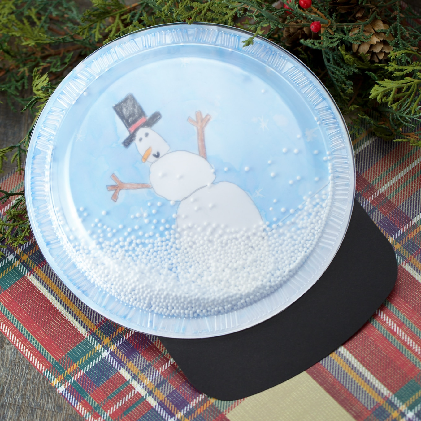 Easy and Fun DIY Plastic Plate Snow Globe Craft for Kids