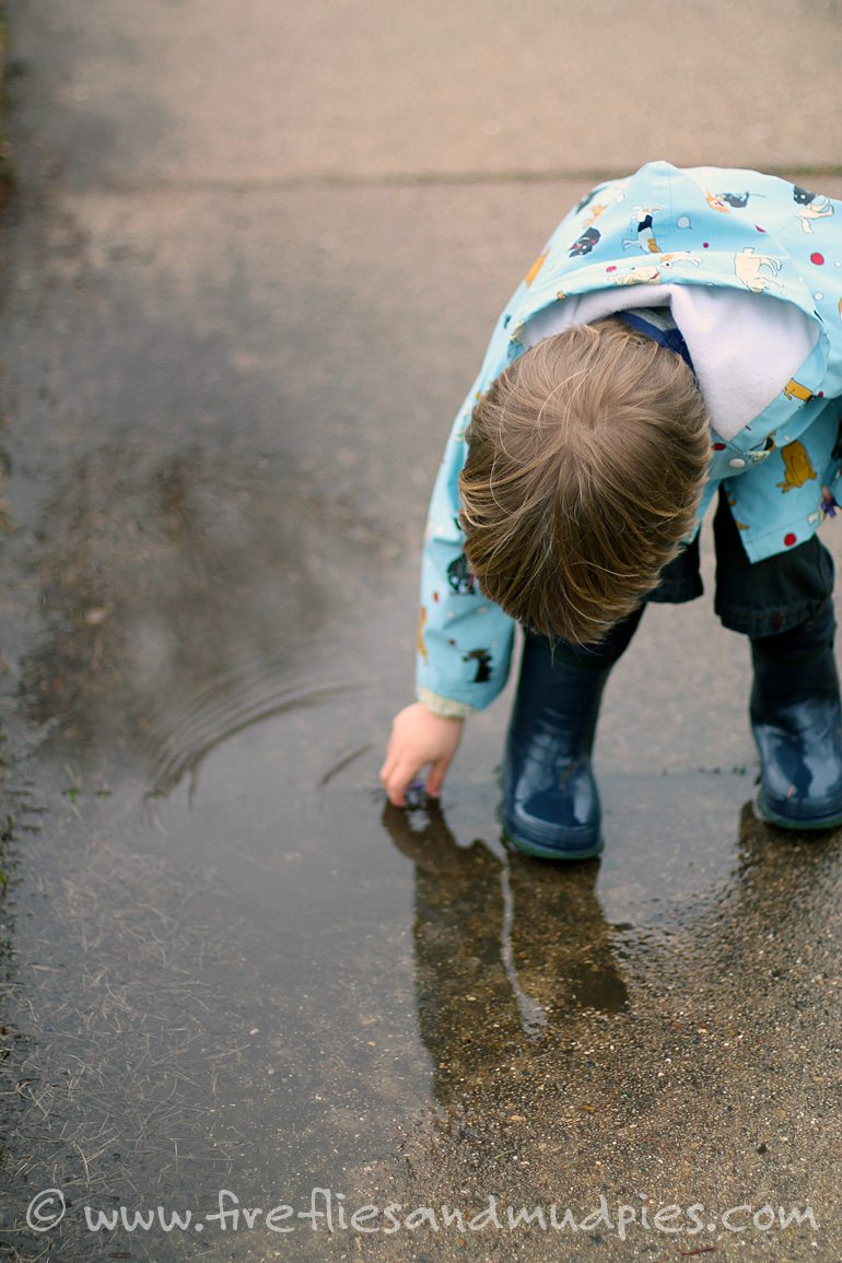 Rainy Day Outdoor Play | Fireflies and Mud Pies