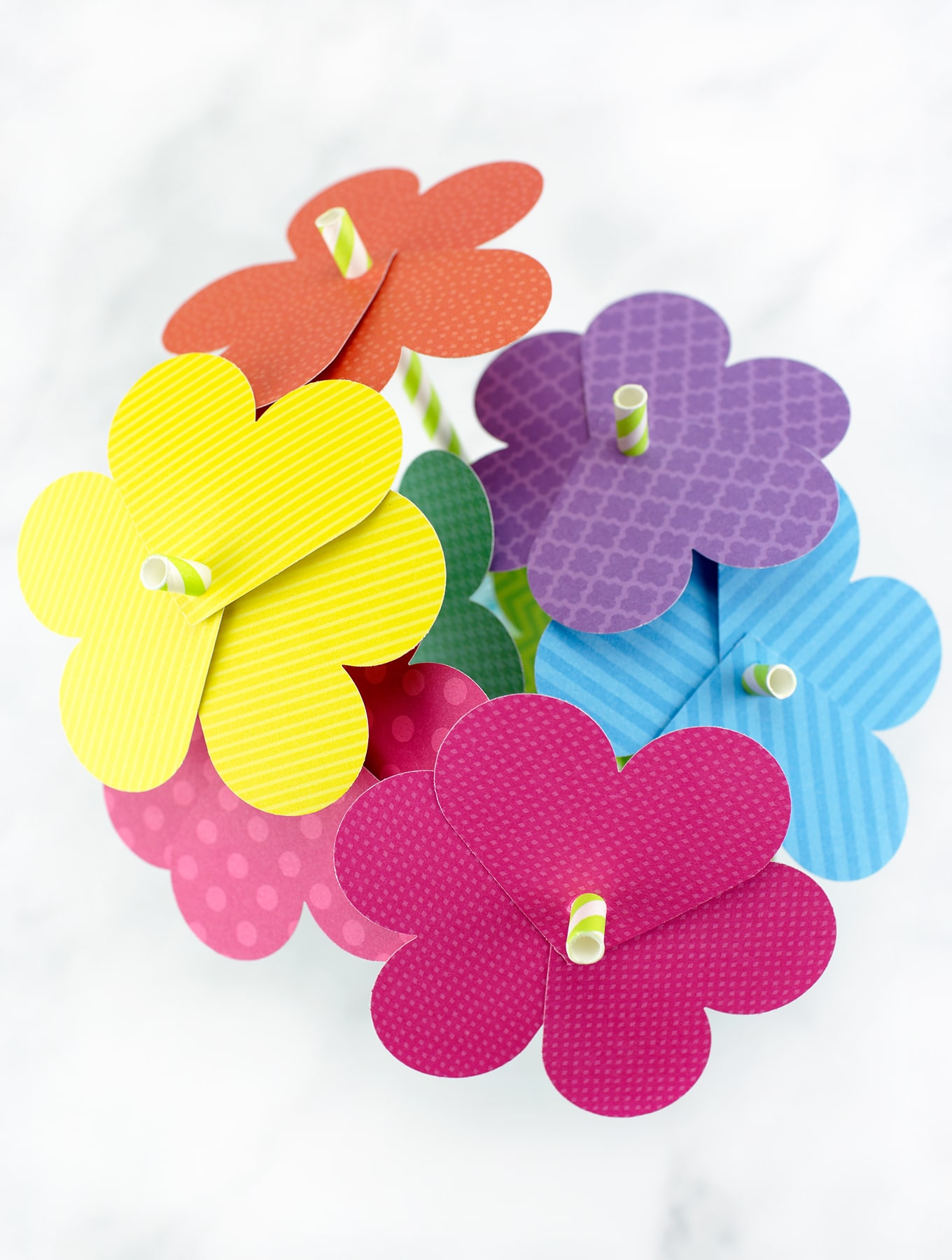A Bouquet of Paper Heart Flowers