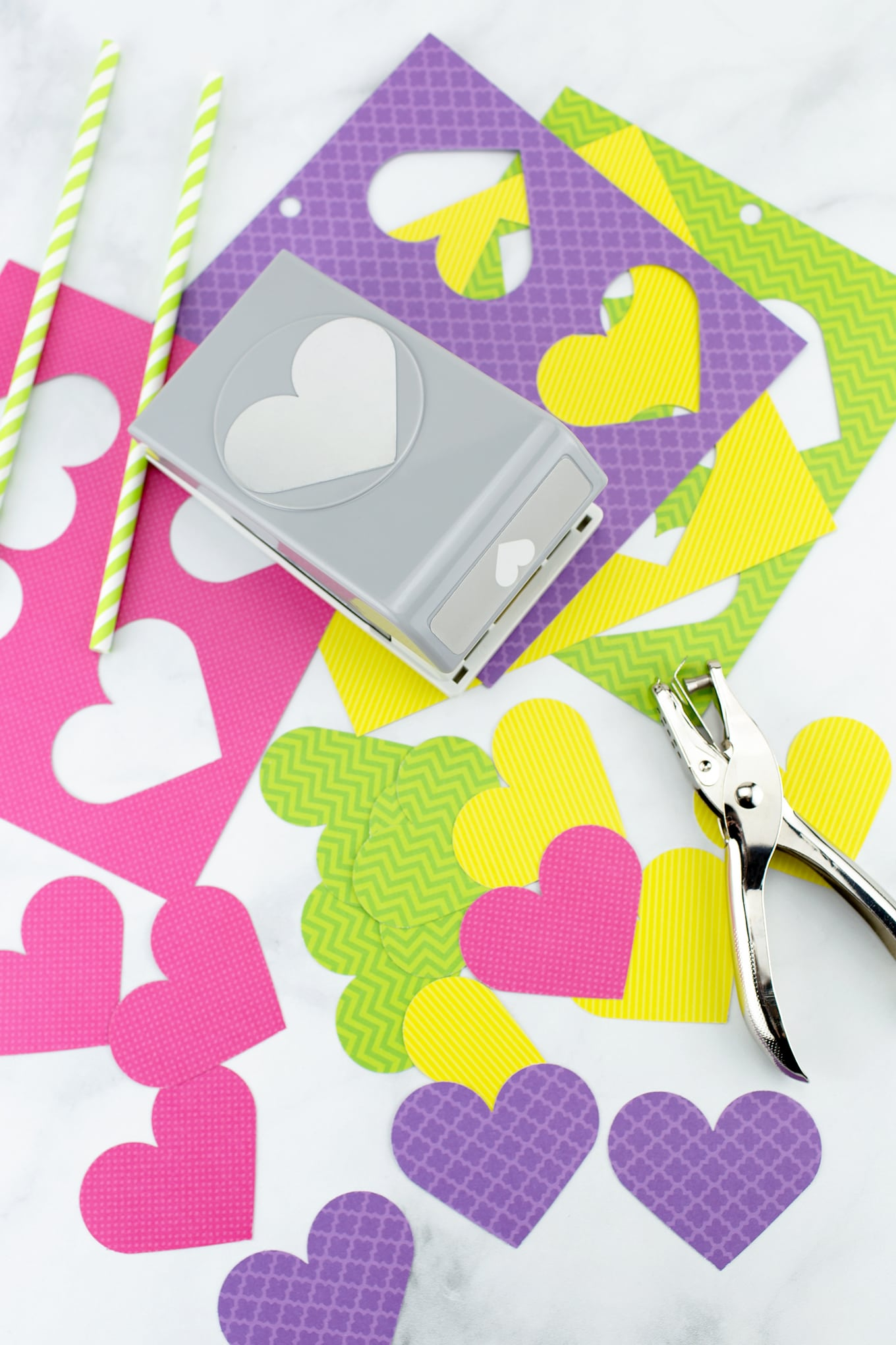 Materials Needed for Paper Heart Flowers