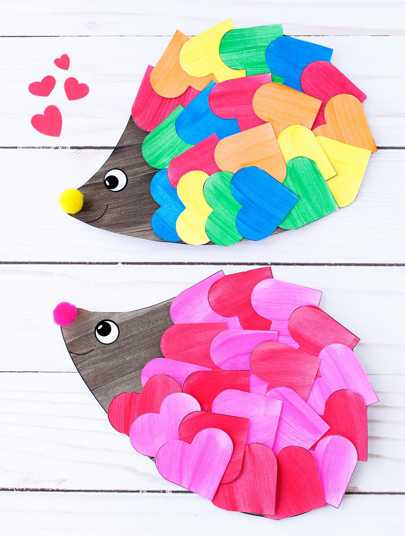 Easy and Fun Valentine Hedgehog Craft