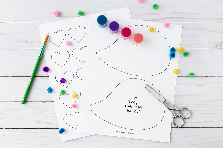 Materials Needed for Valentine Hedgehog Craft