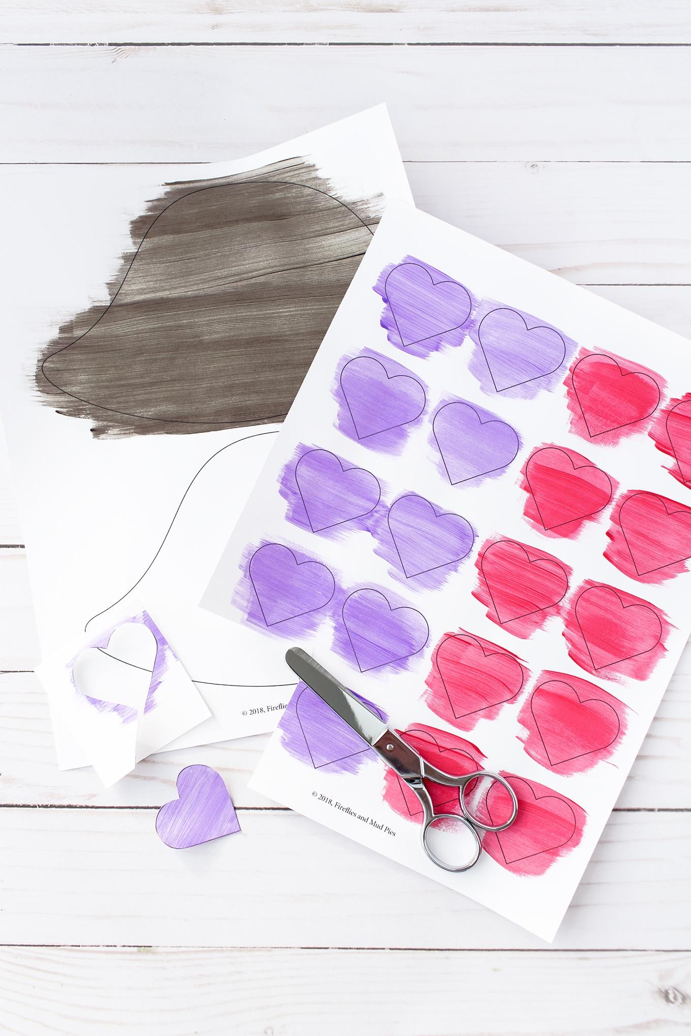 Valentine Hedgehog Craft In-Process
