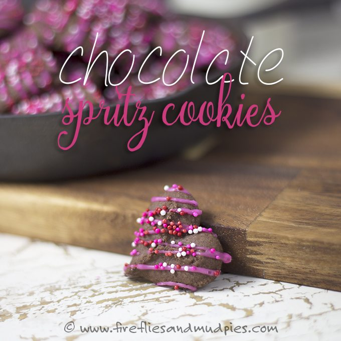 Chocolate Spritz Cookies | Fireflies and Mud Pies