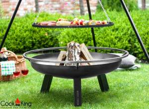 Cook King Grill on Tripod