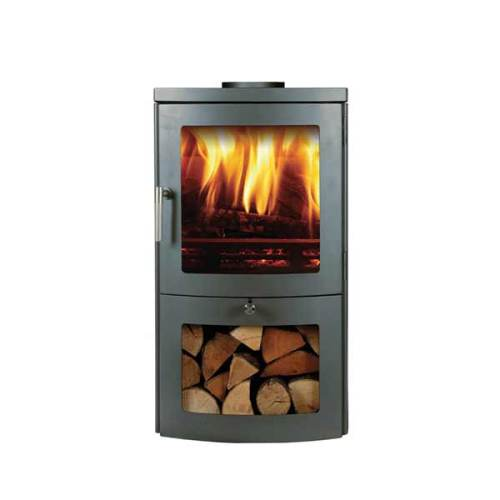 Chesney's Milan 4 woodburning stove in Silver