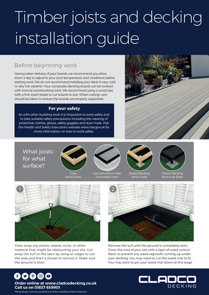 Cladco Timber Joists & Composite Decking