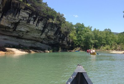 canoeing on the Buffalo National Riiver, Arkansas