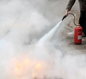 You know about fire extinguisher safety, but do you know how to safely clean up after using a fire extinguisher?