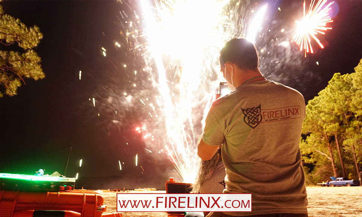 Firelinx at Florida Pyrotechnic Arts Guild event Nov 2020