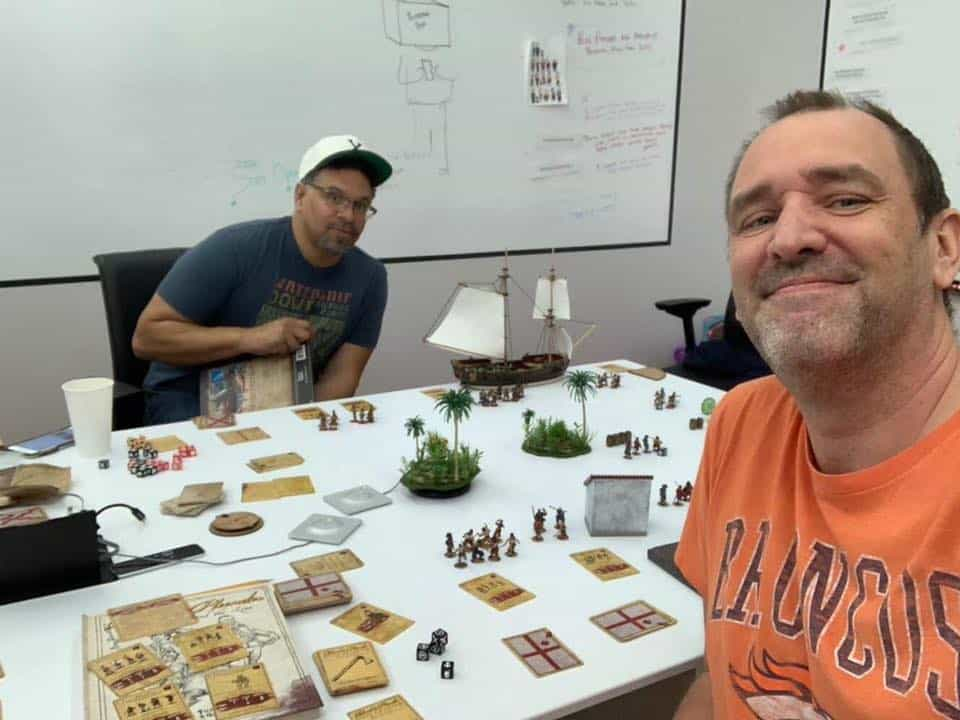 Blood & Plunder being played at South Park Studios! » Firelock Games