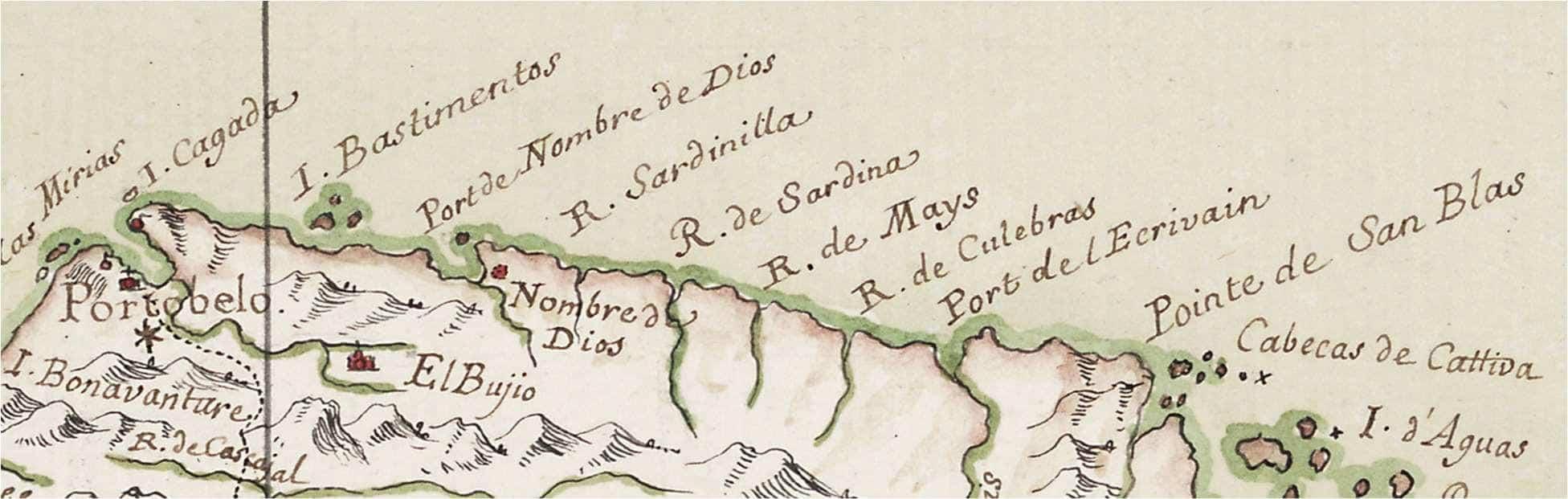 The Isthmus of Darien Showing the Coast from Port Escribano (Escrivain) to Portobelo.