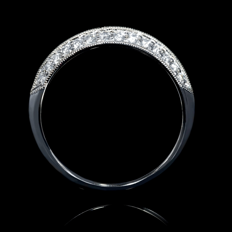 25ct Diamond Antique Style Platinum Knife Edge Wedding