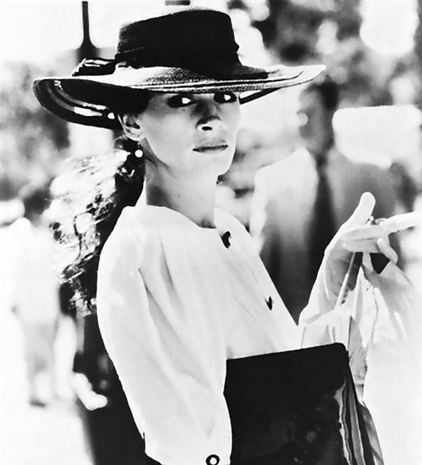 Julia Roberts in Pretty Woman con un cappellio Memar
