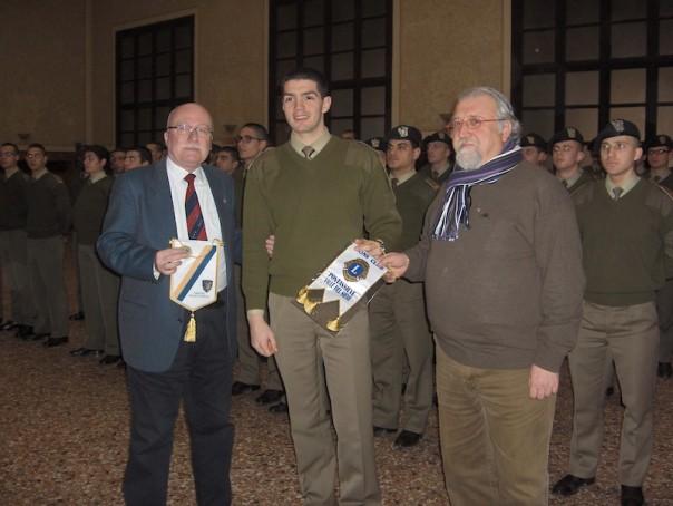 I presidenti dei Lions Club con il capo corso dell'Accademia militare